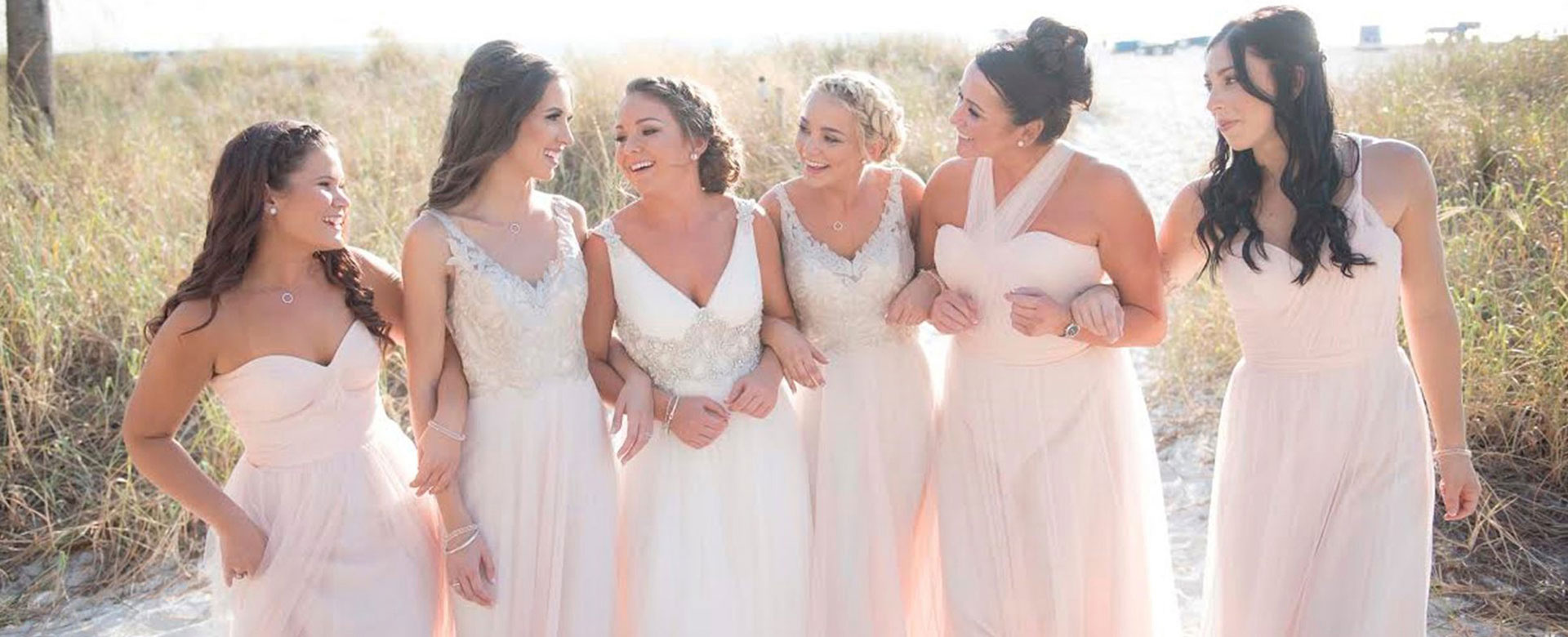 bride and bridesmaids at Sirata